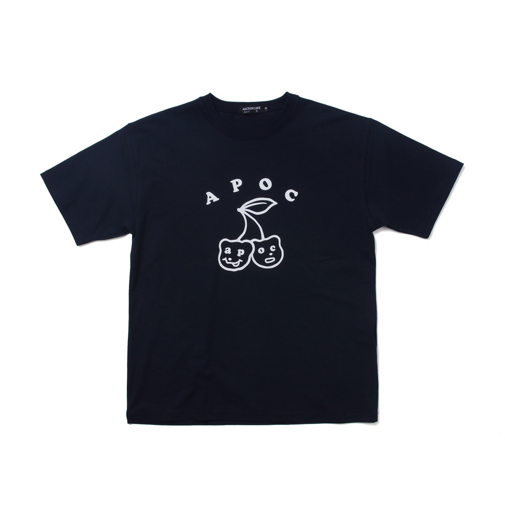 Big Cherry Bear T-shirts_Navy