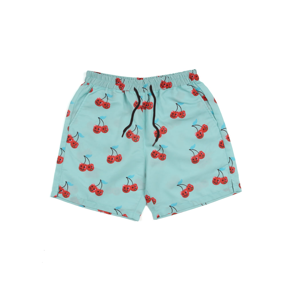 Cherry Bear Hawaiian Pants_Skyblue