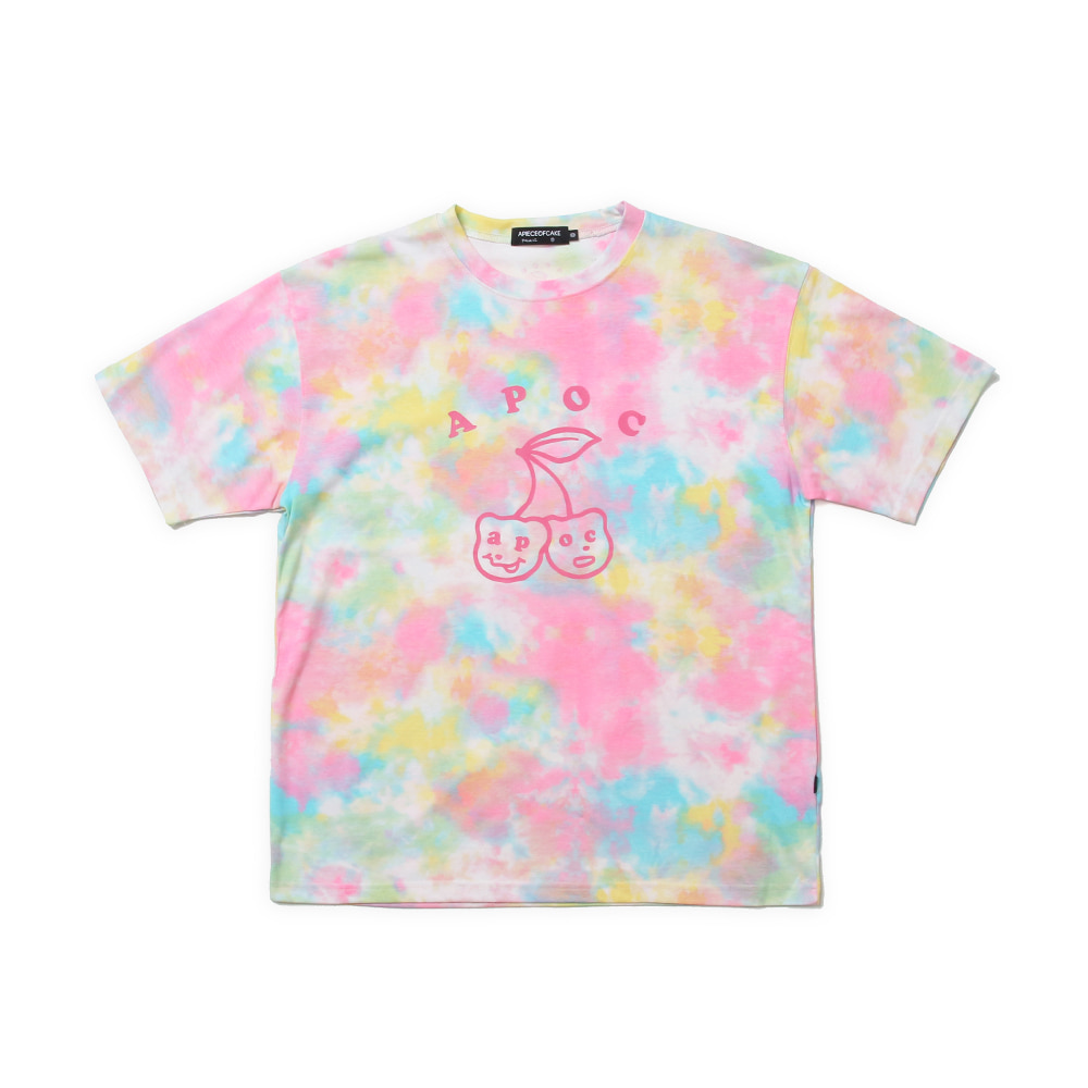 Big Cherry Bear T-shirts_Tiedye