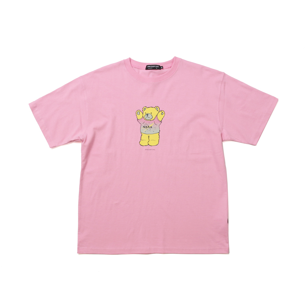 NASA Bear T-shirts_Pink