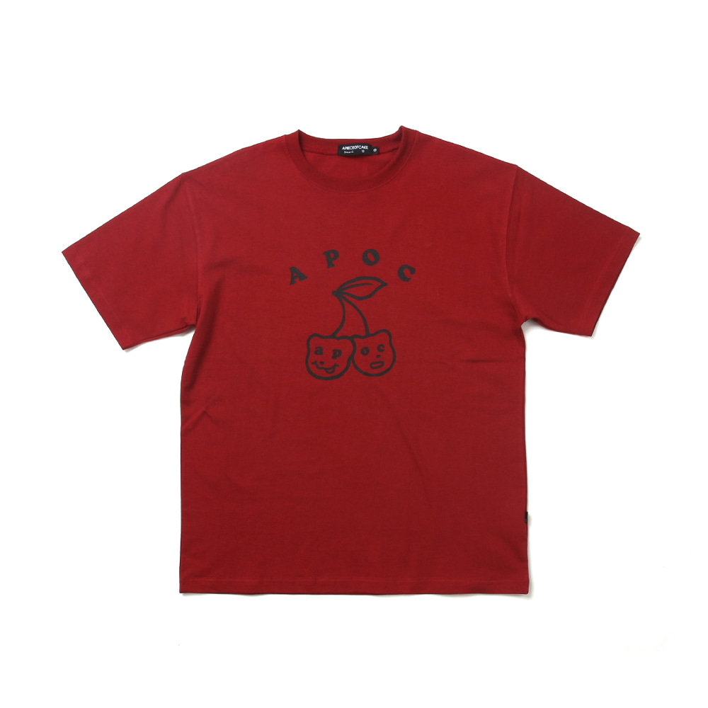 Big Cherry Bear T-shirts_Burgundy