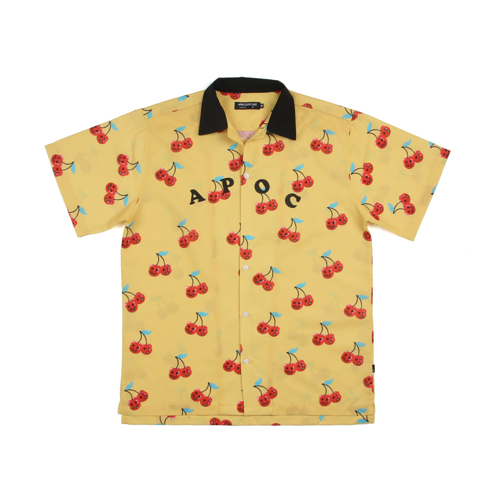 Cherry Bear Hawaiian shirts_Yellow
