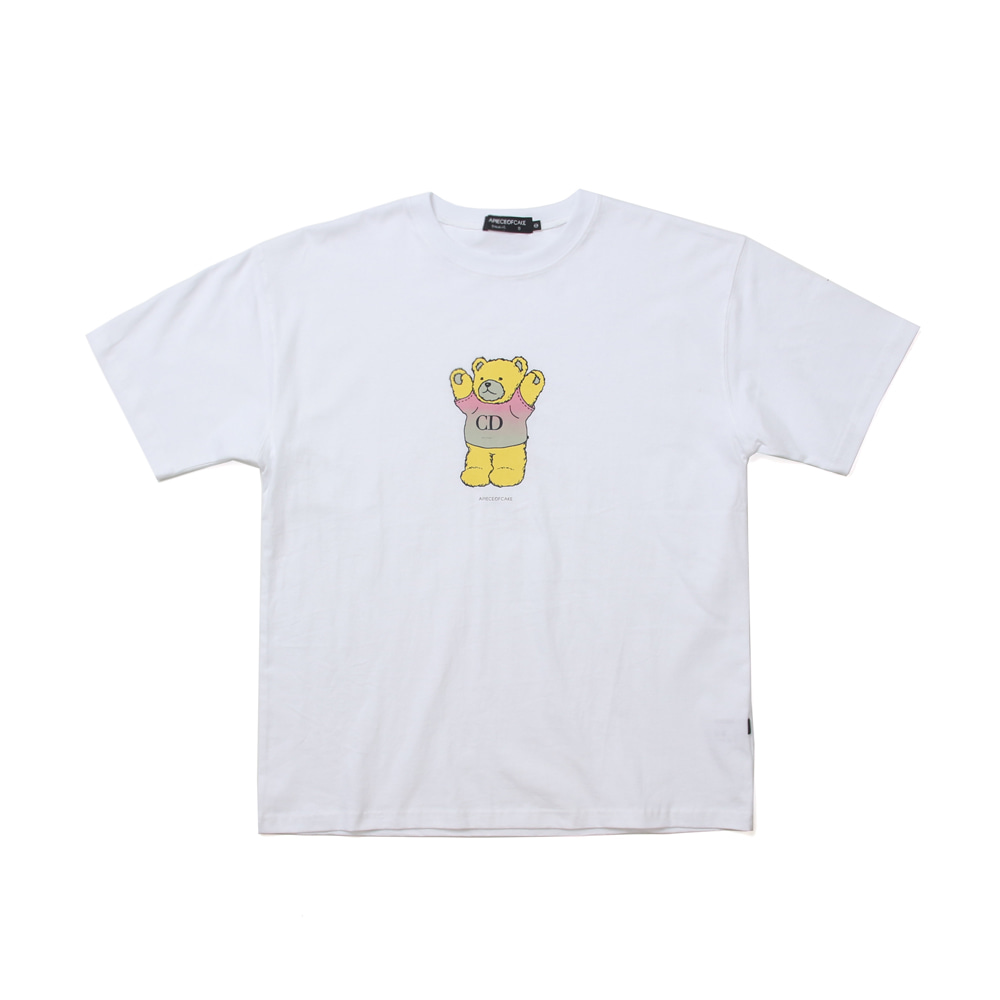 CD Bear T-shirts_White