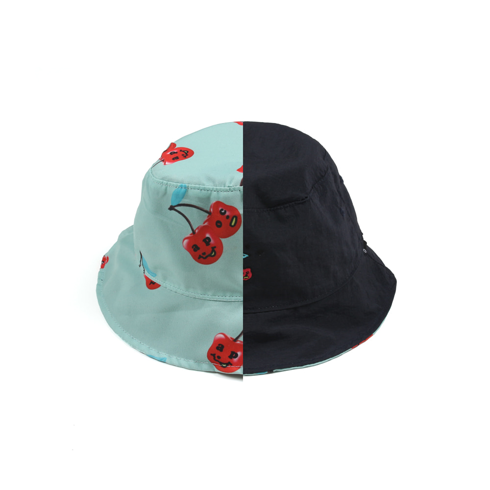Cherry Bear Reversible Bucket Hat_Navy