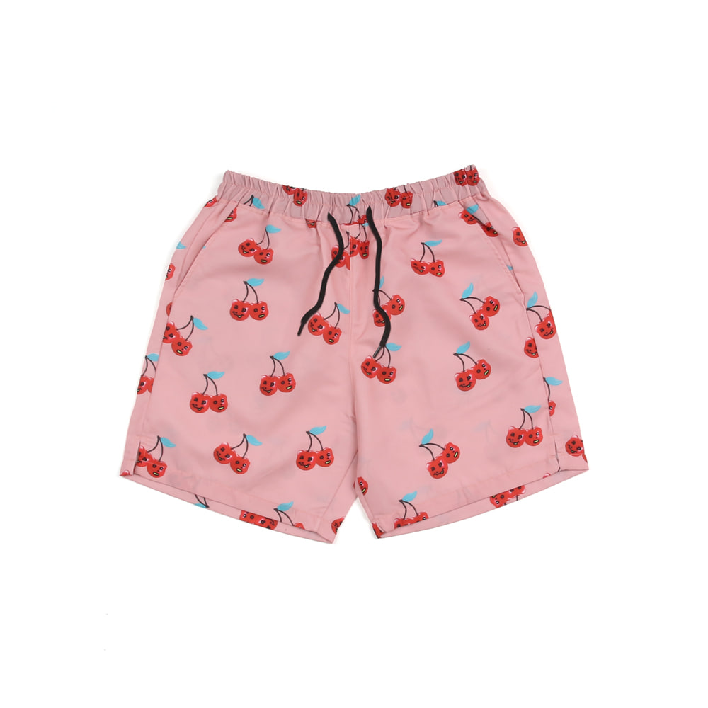 Cherry Bear Hawaiian Pants_Pink