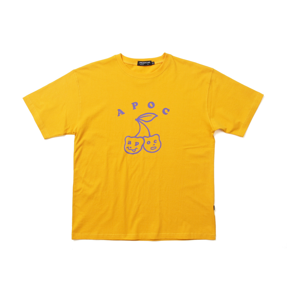 Big Cherry Bear T-shirts_Yellow