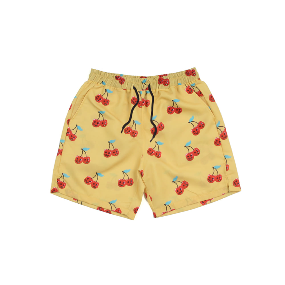 Cherry Bear Hawaiian Pants_Yellow