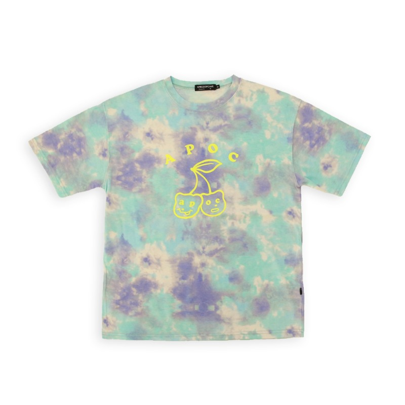 Big Cherry Bear T-shirts_Tiedye Mint
