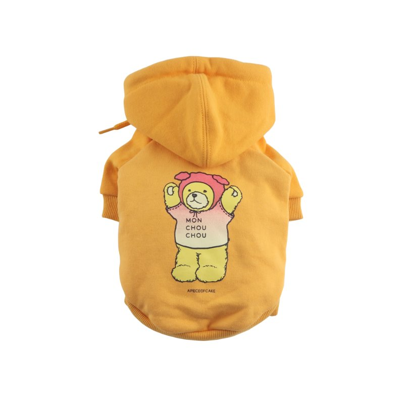Bear Hoodie_Yellow [Pet]