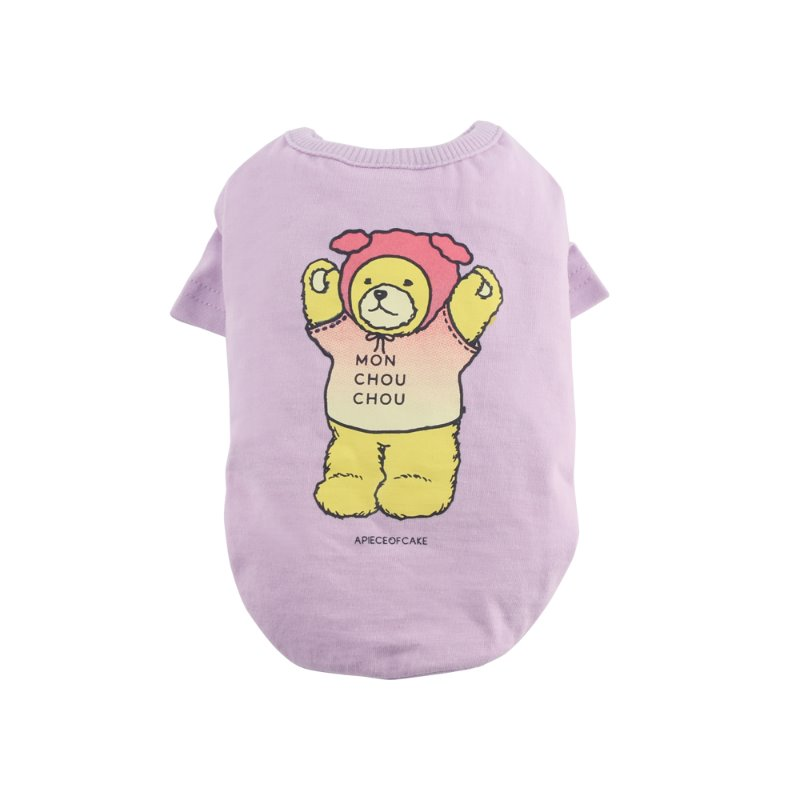 Bear T-shirt_Violet [Pet]