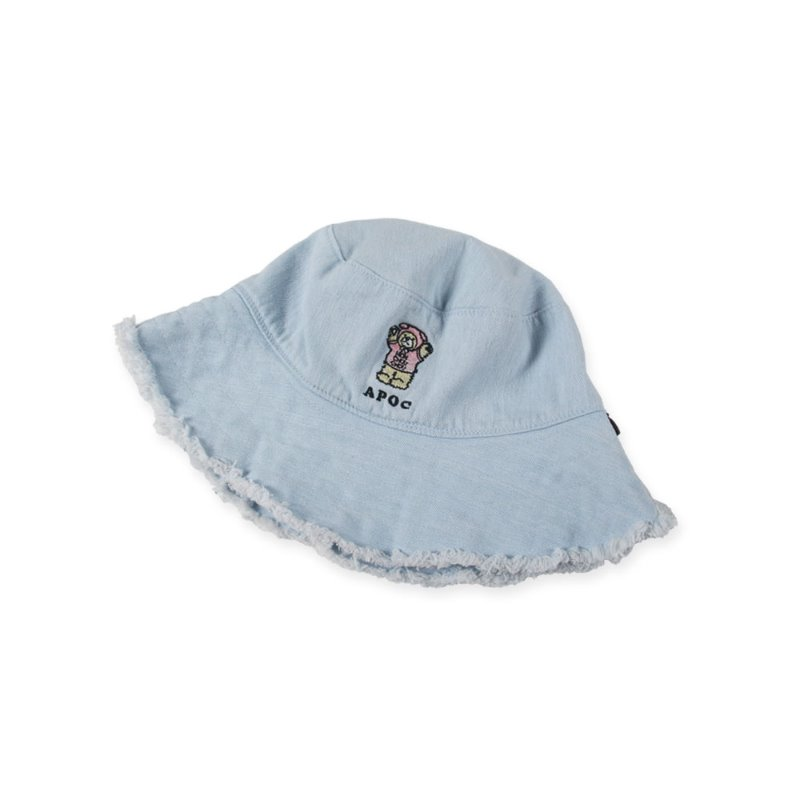 Bear Denim Crusher Hat_Light Blue