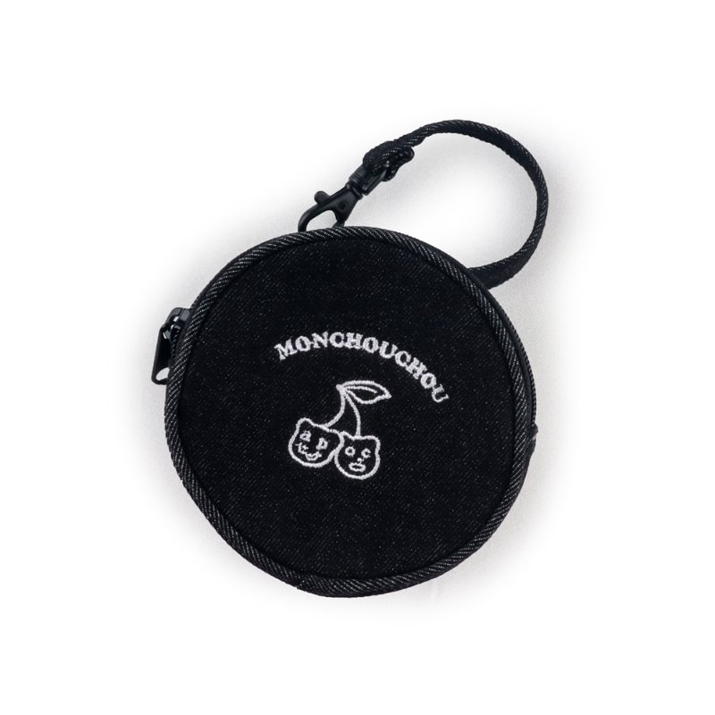 Cherry Bear Coin Bag_Black
