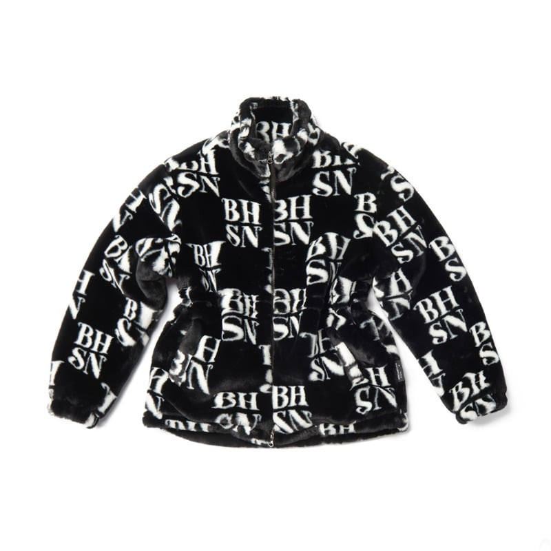 BHSN Fur Jacket_Black