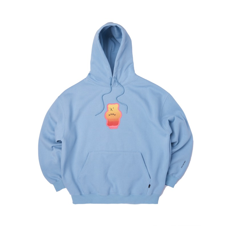 Mistic Bear Hoodie_Light Blue