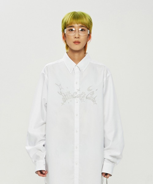 SCC Glitter Overfit Shirts_White