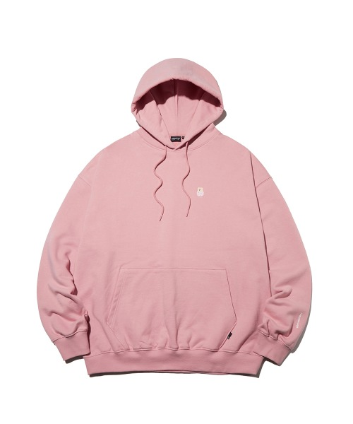 Bear Patch Hoodie_Pink